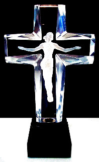 Cross of the Millennium Maquette Acrylic Sculpture: Deluxe Edition 1995 12 in Sculpture - Frederick Hart