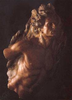 Ex Nihilo, Fragment  5, 2003 Sculpture Bronze Sculpture 40 in Sculpture by Frederick Hart