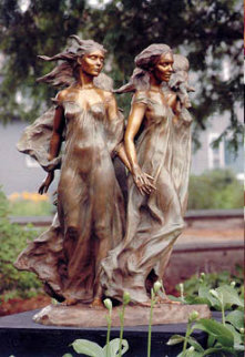 Daughters of Odessa 1/3 Life Size  1998 Bronze Sculpture 26 in Sculpture by Frederick Hart