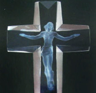 Cross of the Millennium Maquette Acrylic Sculpture AP 1995 12 inches  Sculpture - Frederick Hart
