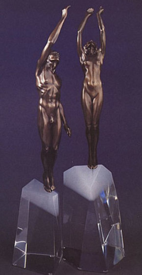 Ascent to Victory 1992 Bronze Sculpture 29 in Sculpture by Frederick Hart