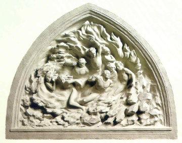Ex Nihilo, Maquette, Cast Marble 2001 Sculpture - Frederick Hart