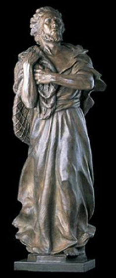 Saint Peter Life Size Bronze Sculpture 2003 Sculpture by Frederick Hart