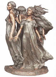 Daughters of Odessa Ensemble 1999 Bronze Sculpture  3/4 Life Size 1999 47 in Sculpture - Frederick Hart