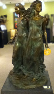 Sisters Bronze Life Size Sculpture 1997 51 in Sculpture by Frederick Hart