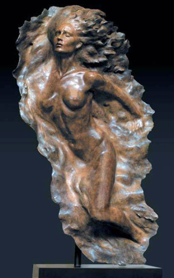Ex Nihilo Full Figure  2, 2008 Bronze Life Size Sculpture AP 2005 64 in Sculpture by Frederick Hart