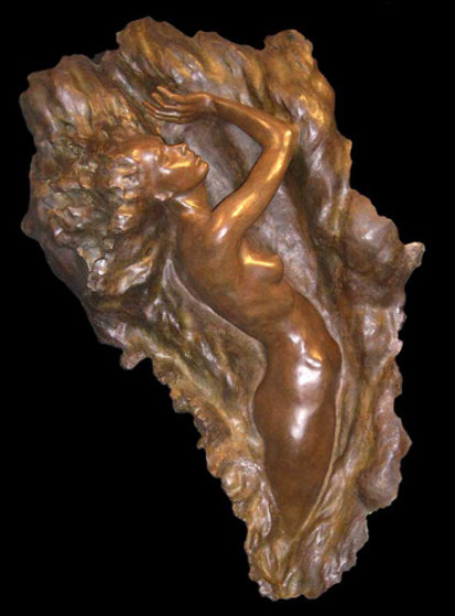 Ex Nihilo Figure 7 2007 Life Size Bronze Sculpture 62 in  Sculpture by Frederick Hart