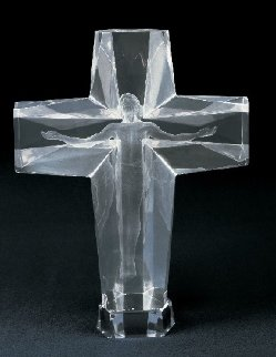 Cross of the Millennium Acrylic  1/3 Life Size  Large Sculpture 1992 31 in  Sculpture - Frederick Hart