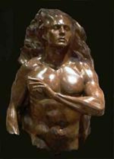 Adam Bronze Sculpture 2004 36 in Sculpture by Frederick Hart