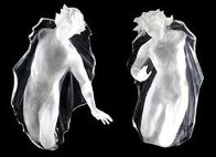 Sacred Mysteries:  Female And Male, Set of 2 Acrylic Sculptures 1983 48 in Sculpture by Frederick Hart - 0