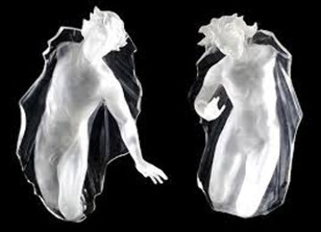 Sacred Mysteries:  Female And Male, Set of 2 Acrylic Sculptures 1983 48 in Sculpture - Frederick Hart