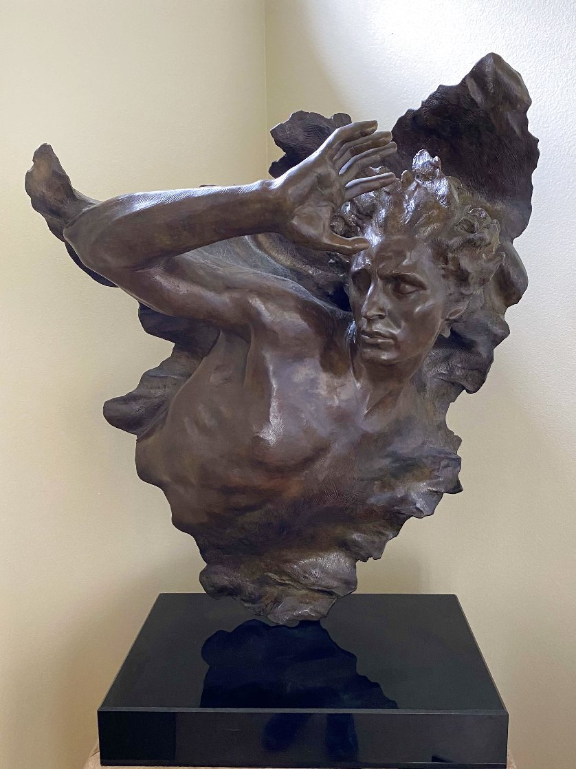 Ex Nihilo Fragment  3 Bronze Sculpture 2005 42 in Sculpture by Frederick Hart