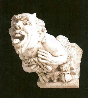 Pan Gargoyle, Maquette Marble Sculpture 2008 16 in Sculpture - Frederick Hart