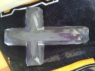 Cross of the Millennium I Acrylic Sculpture 1995 12 in Sculpture by Frederick Hart - 1