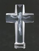 Cross of the Millennium I Acrylic Sculpture 1995 12 in Sculpture by Frederick Hart - 0