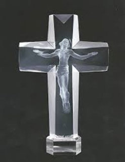 Cross of the Millennium I Acrylic Sculpture 1995 12 in Sculpture by Frederick Hart