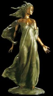 Daughter Life Size  Bronze Sculpture 2000 48 in Sculpture by Frederick Hart