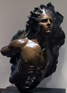 Ex Nihilo: Fragment 5 Bronze Sculpture 2003 40 in Sculpture by Frederick Hart