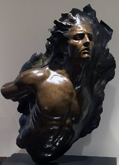 Ex Nihilo: Fragment 5 Bronze Sculpture 2003 40 in Sculpture - Frederick Hart