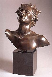 Head of Male, Celebration Bronze Sculpture 2002 Sculpture - Frederick Hart