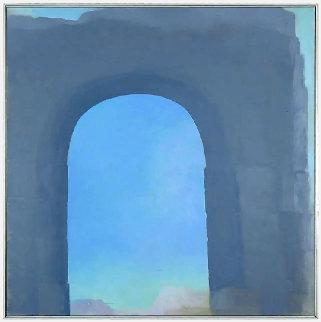 Arch 1976 65x65 Original Painting - John Hartell