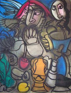 Untitled / Untitled set of 2 paintings 1973 Original Painting - Grace Hartigan