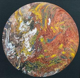 Untitled (Painted Drum Head) 2016 34 in Original Painting - Mickey Hart