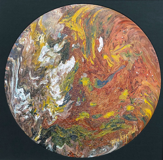Untitled (Painted Drum Head) 2016 34 in Original Painting by Mickey Hart