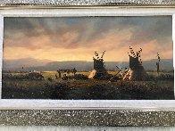 Untitled Western Painting 1982 15x30 Original Painting by Heinie Hartwig - 1