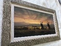 Untitled Western Painting 1982 15x30 Original Painting by Heinie Hartwig - 3