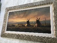 Untitled Western Painting 1982 15x30 Original Painting by Heinie Hartwig - 5