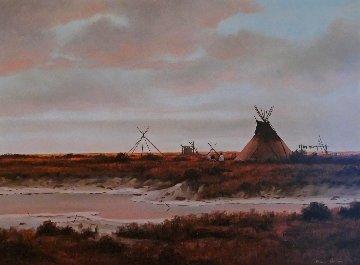 Red Prairie 24x29 Original Painting - Heinie Hartwig