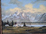 Wyoming Village 1984 26x32 Original Painting by Heinie Hartwig - 1