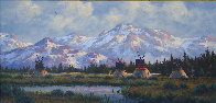 Untitled Mountainscape 19x31 Original Painting by Heinie Hartwig - 2