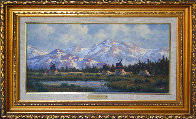 Untitled Mountainscape 19x31 Original Painting by Heinie Hartwig - 1