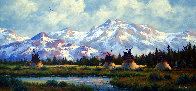 Untitled Mountainscape 19x31 Original Painting by Heinie Hartwig - 0