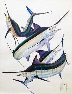 Pacific Super Grand Slam Watercolor 2010 29x25 Watercolor - Guy Harvey