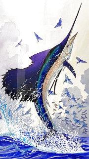 Sailfish Watercolor 1996 25x17 Watercolor - Guy Harvey
