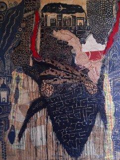 Scarab 2016 75x59 Huge Original Painting - Fathi Hassan