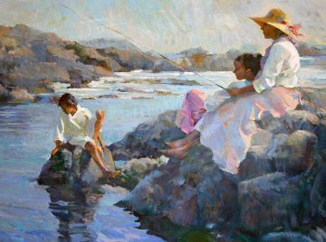 Peaceful Cove  1991 Limited Edition Print by Don Hatfield