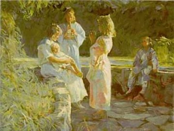 Flute Players 1990 Limited Edition Print by Don Hatfield