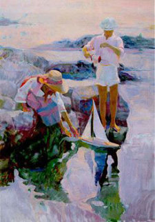 Boat Launching 1990 Limited Edition Print - Don Hatfield