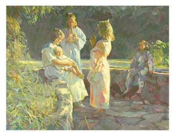 Flute Players Ap 1990 Limited Edition Print - Don Hatfield