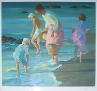 Searching For Shells  1988 Limited Edition Print by Don Hatfield - 1