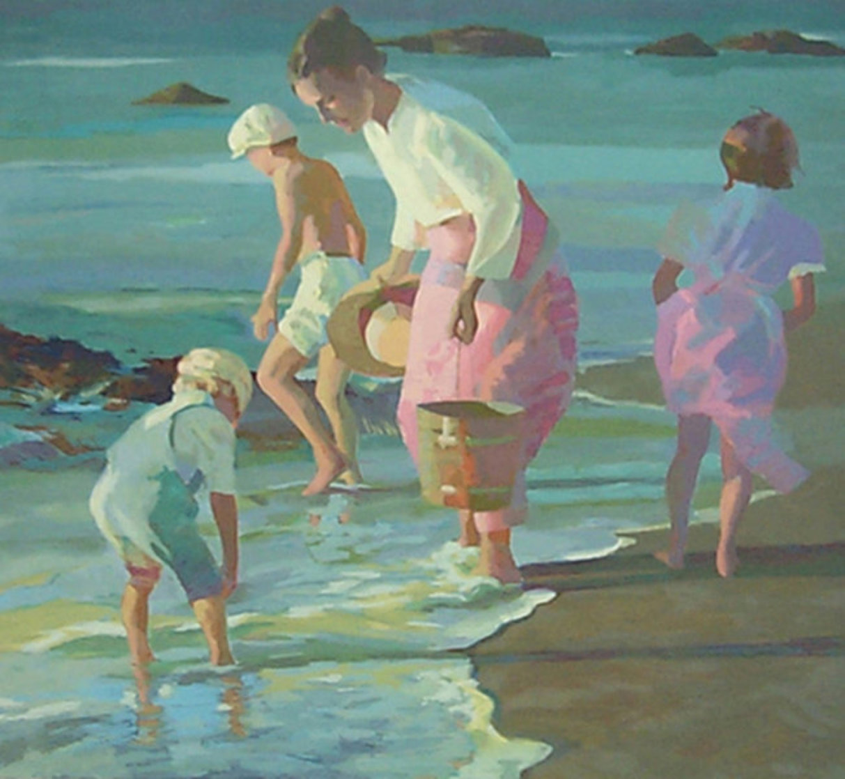 Searching For Shells  1988 Limited Edition Print by Don Hatfield