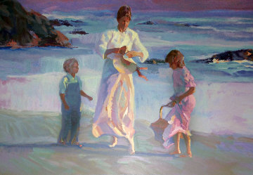 Peaceful Days 1989 29x41 Super Huge Limited Edition Print - Don Hatfield