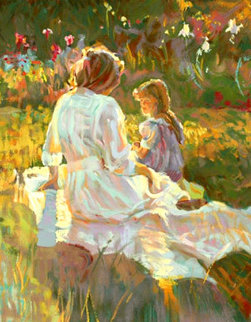 Afternoon Chat PP 1995 Limited Edition Print - Don Hatfield