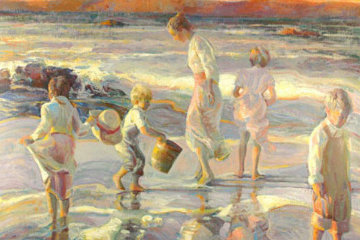 Frolicking At the Seashore PP Limited Edition Print - Don Hatfield