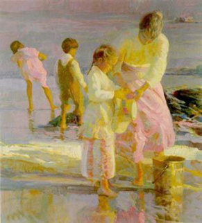 Playing At the Shore PP 1992 Limited Edition Print - Don Hatfield