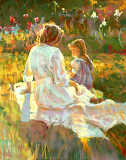 Afternoon Chat PP 1995 Limited Edition Print by Don Hatfield